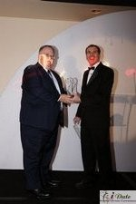 Rich Orcutt (Iovation) receiving the Best New Technology Award at the 2010 iDateAwards in Miami