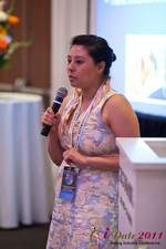 Monica Ohara (Director of Marketing at SpeedDate) at the June 22-24, 2011 Dating Industry Conference in California