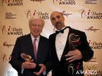 Dr. Warren & Paul Falzone at the 2013 Las Vegas iDate Awards Ceremony