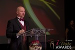 Sam Moorcroft announcing the Best Affiliate Program in Las Vegas at the January 17, 2013 Internet Dating Industry Awards