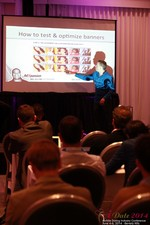 Axel Vezina, Chief Analytics Officer For Crak Media On Best Strategies For Mobile Dating Conversions  at the 38th iDate2014 L.A.