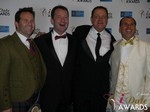 Michael O'Sullivan, Mark Brooks, Max McGuire and Marc Lesnick at the January 15, 2015 Internet Dating Industry Awards Ceremony in Las Vegas