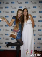 Svetlana Mucha and Elena Kolyasnikova in Las Vegas at the January 15, 2015 Internet Dating Industry Awards