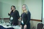 Genevieve Zawada and Arlene Vasquez reporting on the 2016 State of Matchmaking in Europe and the U.K.  at the 2016 Londres União Europeia Mobile and Internet Dating Expo and Convention